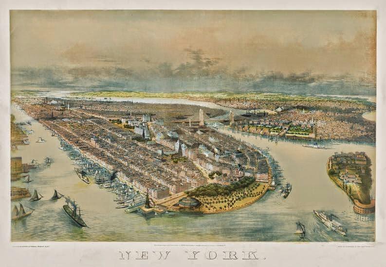 new york history geschichte new york birdseye view 1880 mystery part 1. Black Bedroom Furniture Sets. Home Design Ideas