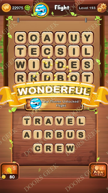Word Bright Level 193 Answers, Cheats, Solutions, Walkthrough for android, iphone, ipad and ipod