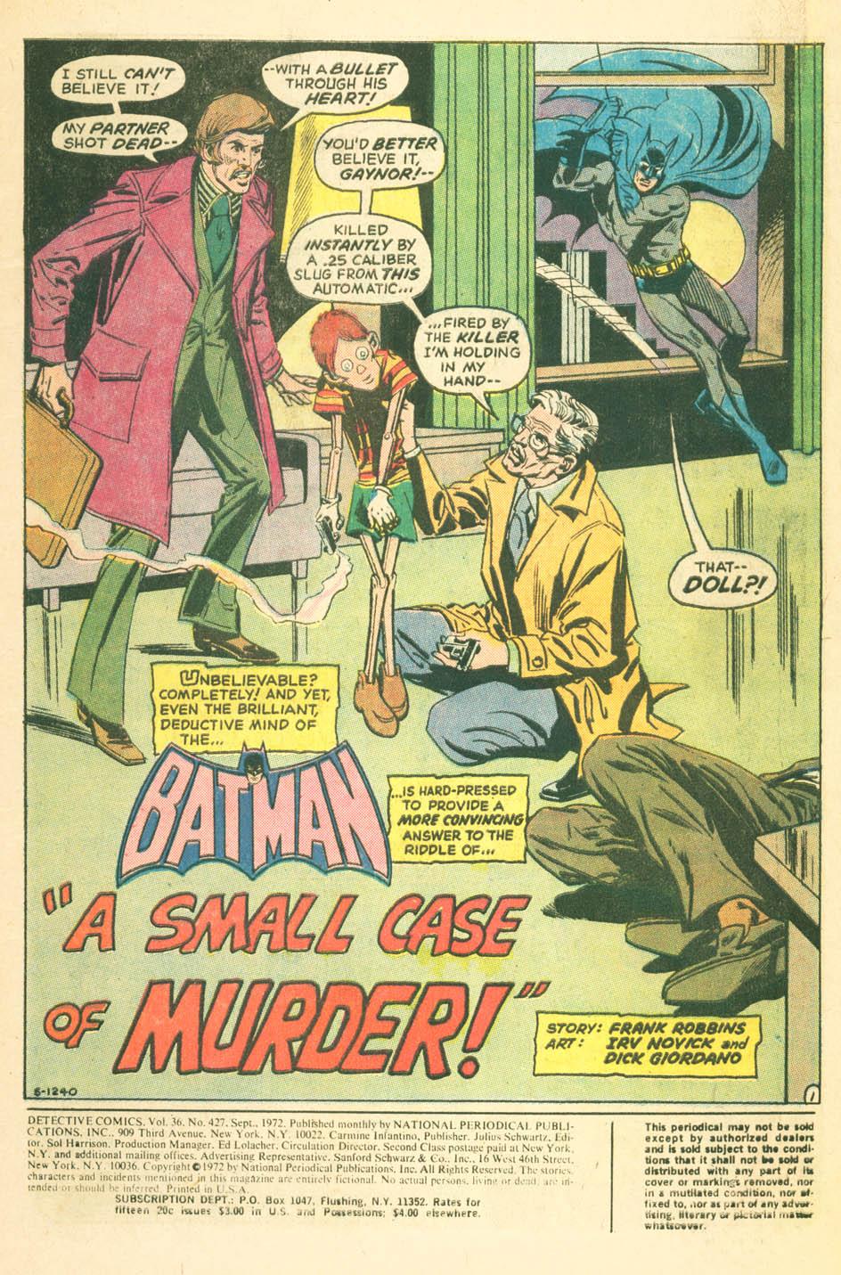Detective Comics (1937) 427 Page 2