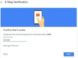 Confirm kode verifikasi
