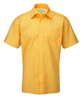 short sleeves yellow big man shirt