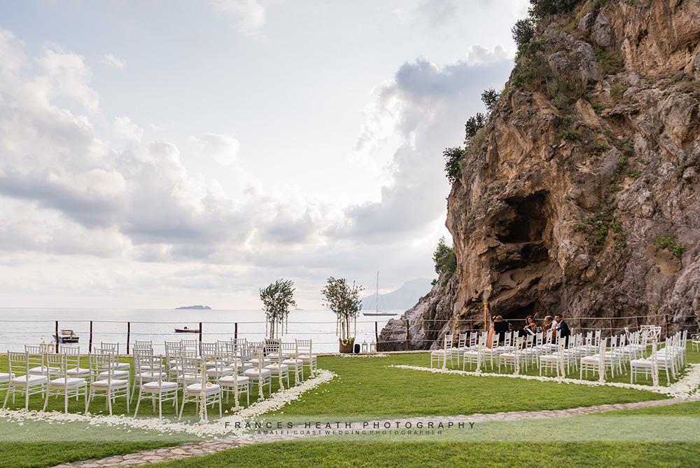 Sea side garden ceremony