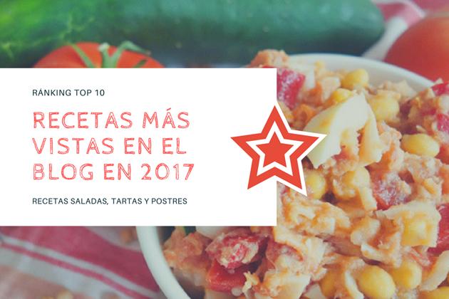 Top 10: las recetas de cocina, tartas y postres más visitadas del 2017