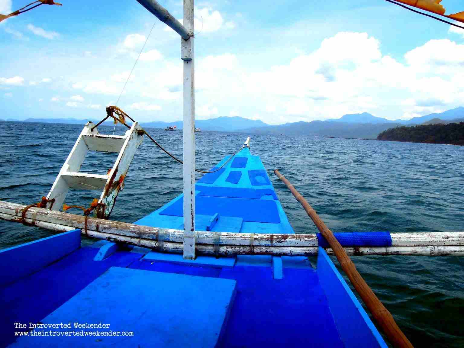 Boat ride going to the Puerto Princesa Underground River