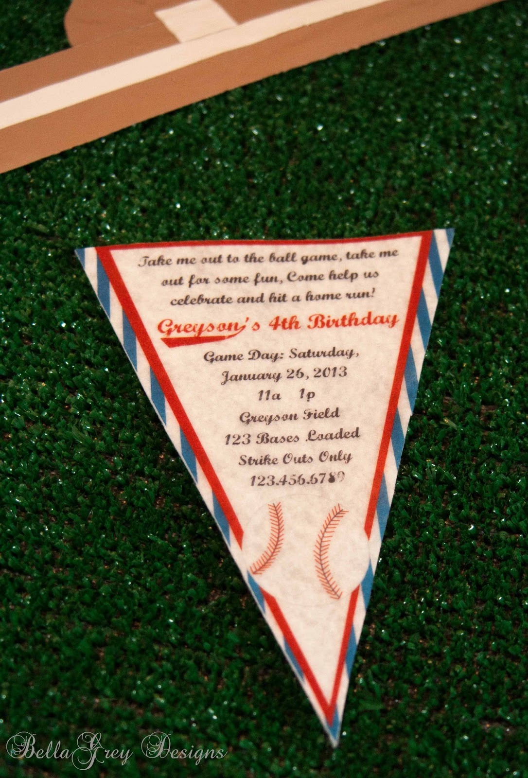 BellaGrey Designs New Vintage Baseball Collection Real Party