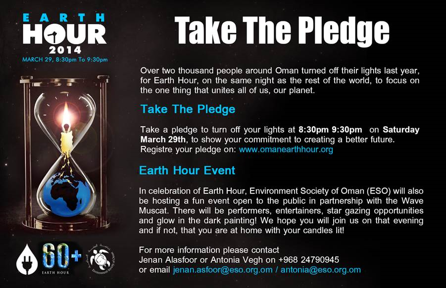 Expat in the City: Take the Pledge    Earth Hour 2014