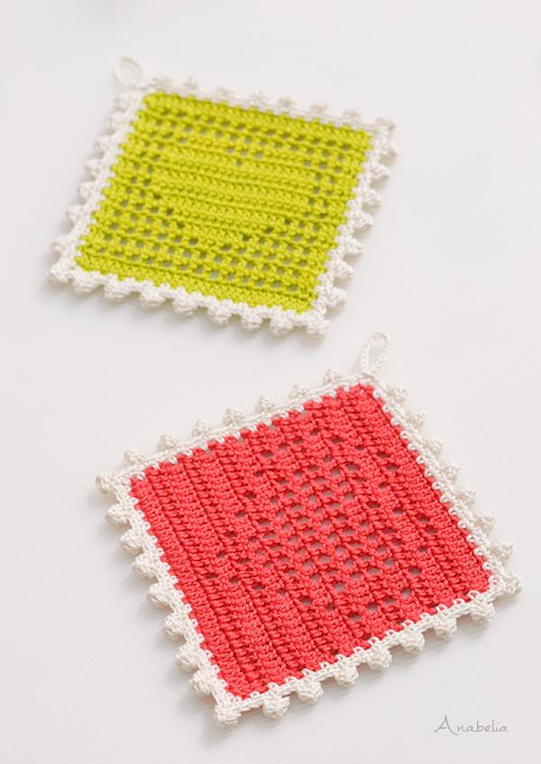 Free pattern: Heart crochet filet tablecloths by Anabelia Craft Design