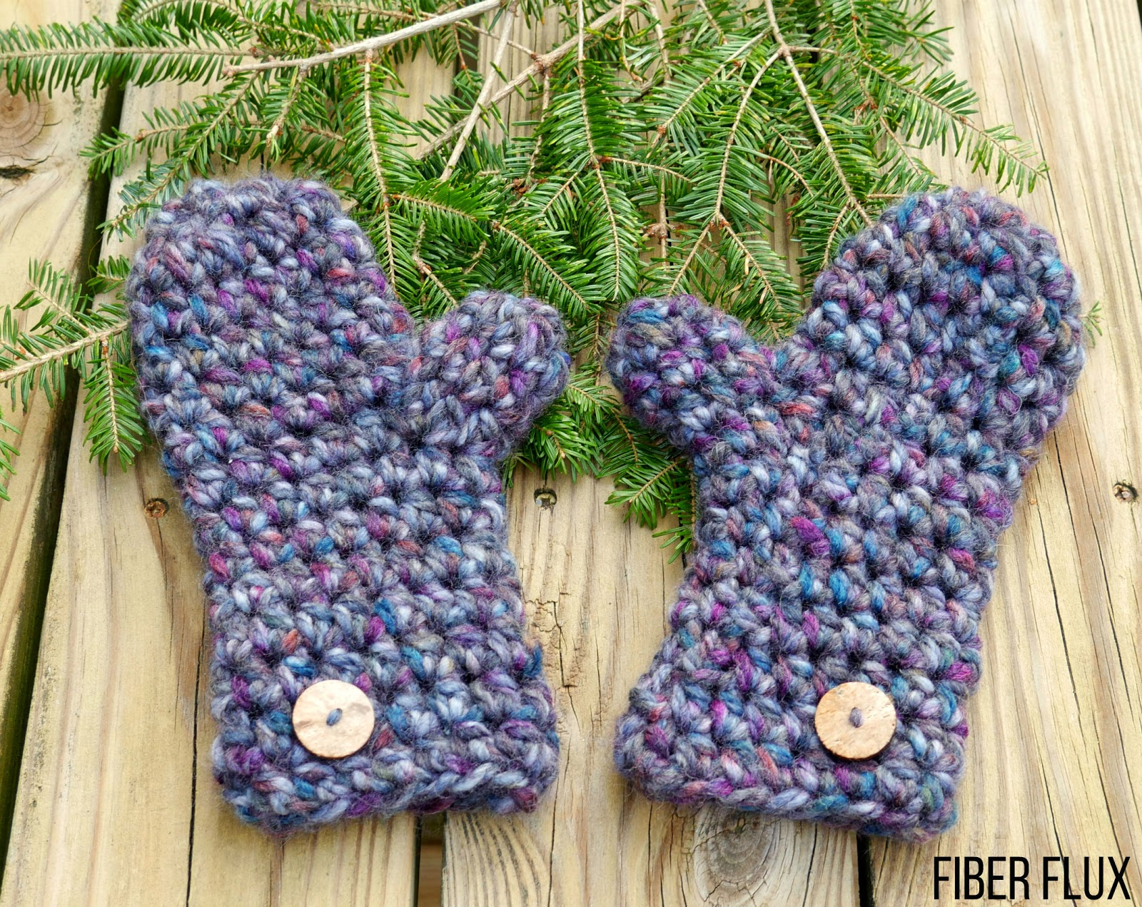 Fiber Flux: Free Crochet Pattern...Winter\'s Night Mittens
