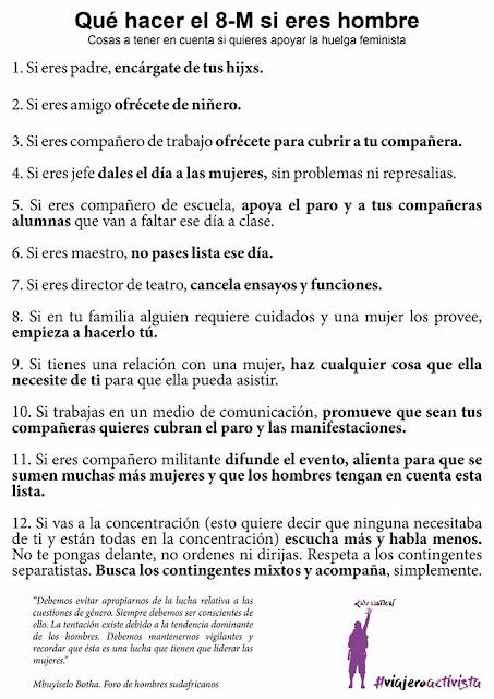 8 DE MARZO: HUELGA DE COHERENCIA