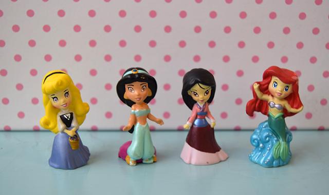 Disney Princess Zizzlingers, Aurora, Jasmine, Mulan, Ariel
