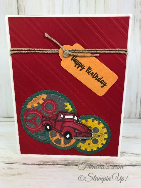Card, Classic Garge Designer Series Paper, Geared Up Garage, Garage Gears Dies