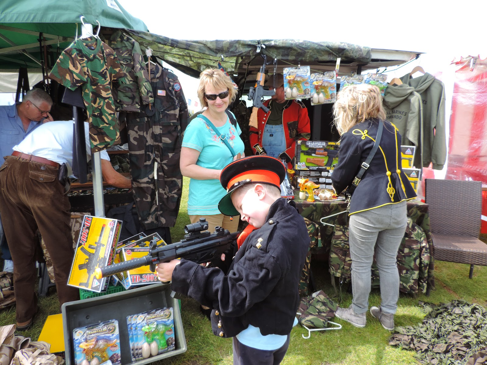 arms and militaria supplies stall at portsmouth d-day memorial celebrations
