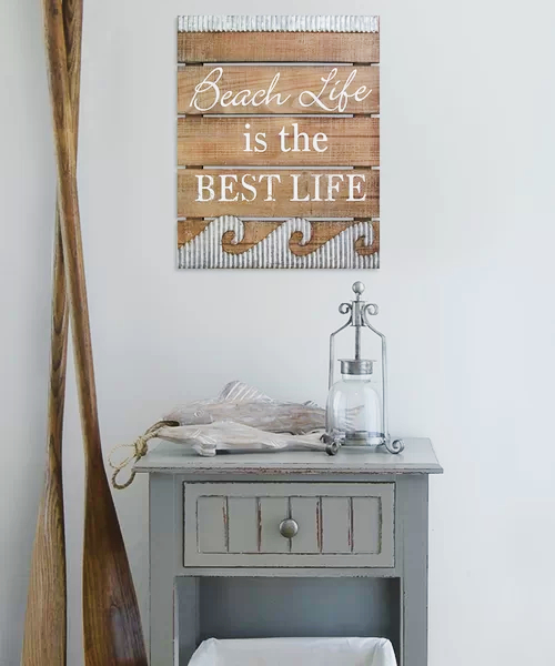 Beach Life is the Best Life Wood Sign Wall Decor