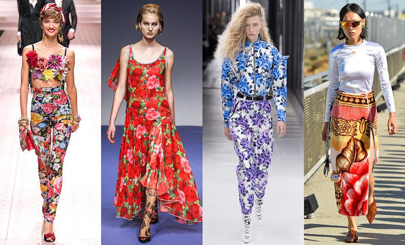как сочетать цветочный принт в одежде