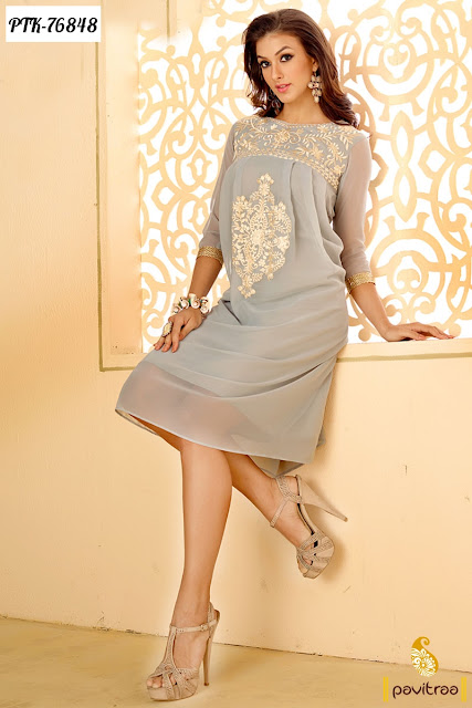 Party Wear New Designs Stylish Designer Kurtis For Young Girls