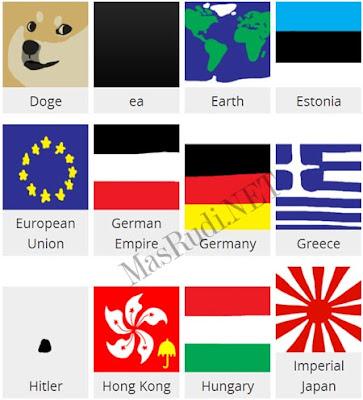 Nama dan Skin Agar IO Bendera