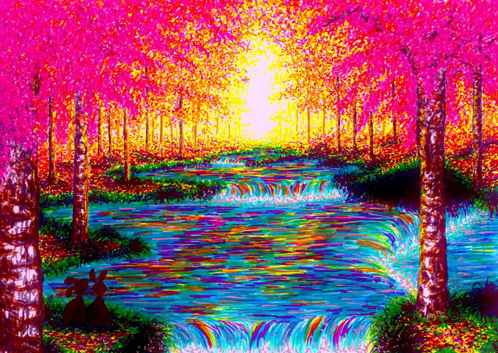 02-Autumn-Joy-XBUDDYFORME-Modern-Impressionist-Style-Applied-to-Vivid-Drawings-www-designstack-co