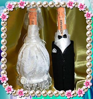 Одежда для свадебного шампанского - мастер-классы, идеи, советы