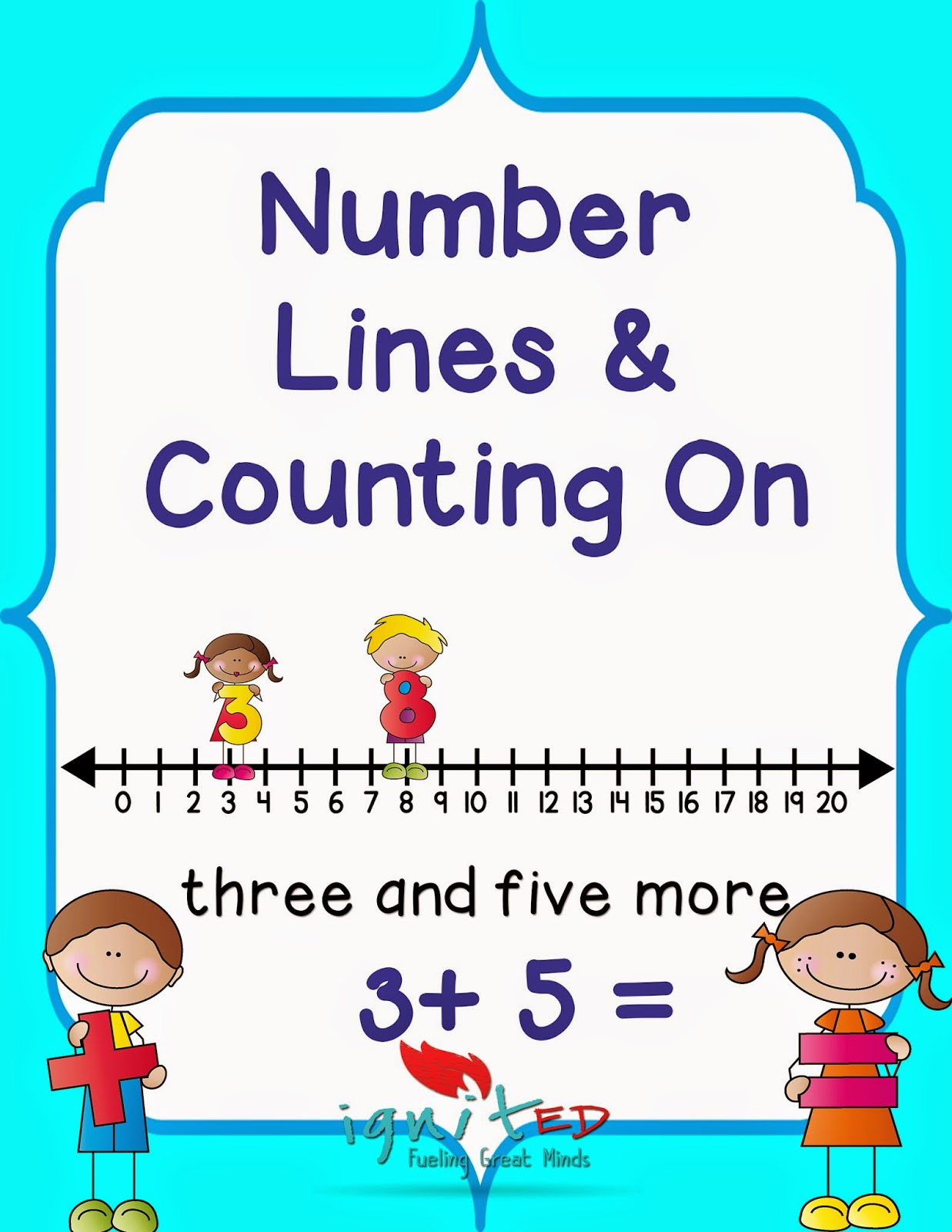 The Best Of Teacher Entrepreneurs Ii Addition Strategy Counting On Using A Number Line