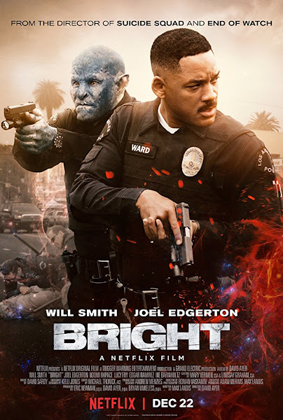 Poster of Bright 2017 Full Movie [English-DD5.1] 720p HDRip ESubs Download