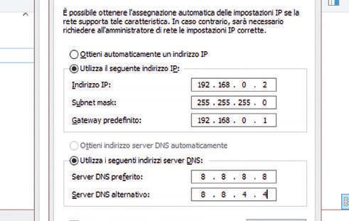 impostazioni del DNS di Windows 10