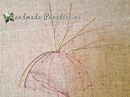 Объемная вышивка «Зонтик» (10)