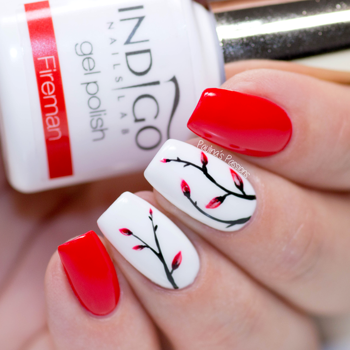 Easy Gel Nail Art – Soft Red Floral Nails (TUTORIAL)