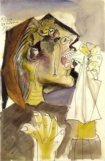 Пабло Пикассо. Плачущая женщина. 1937