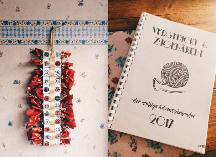 Ideen für selbst gemachte Adventskalender mit Klorollen Upcycling und einem Strickkalender bzw. Häkelkalender