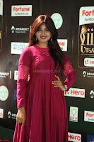 Monal Gajjar in Maroon Gown Stunning Cute Beauty at IIFA Utsavam Awards 2017 043.JPG