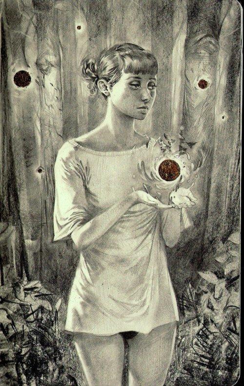 Miles Johnston deviantart ilustrações desenhos fantasia surreal mulheres