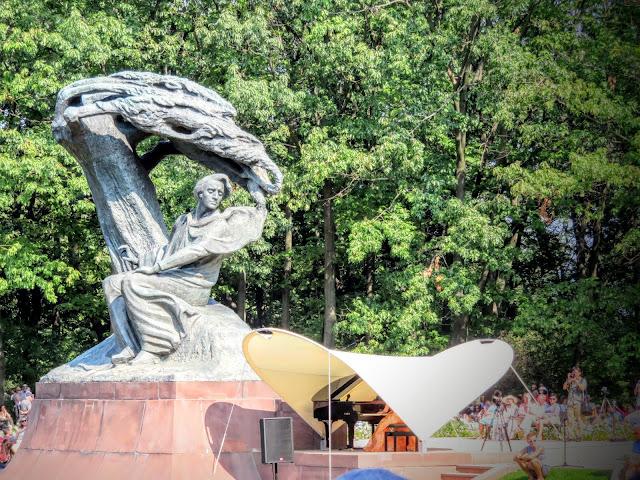 Chopin concert in Łazienki Park in Warsaw, Poland