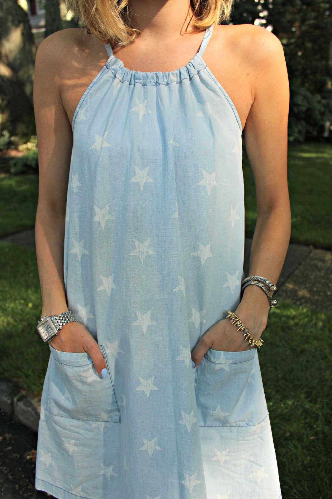old navy star print dress