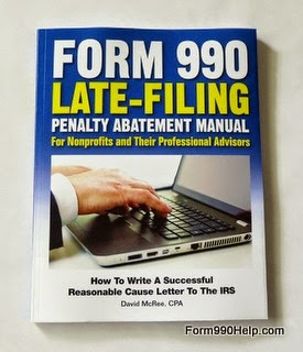 Form 990 penalty abatement manual cover