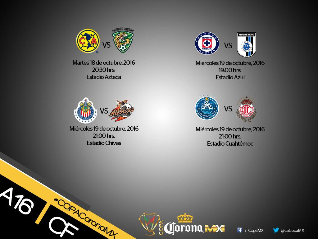 Se dieron a conocer los cambios de cuartos de final de la COPA MX.