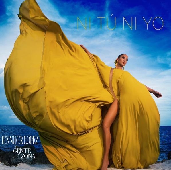 "Jennifer Lopez looking gorgeous in album art of her single spanish song ""Ni Tú Ni Yo"" ft Gente de Zona"