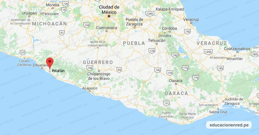 Temblor en México de Magnitud 4.6 (Hoy Sábado 11 Julio 2020) Sismo - Epicentro - Petatlán - Guerrero - GRO. - SSN - www.ssn.unam.mx