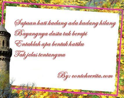 Contoh Puisi Galau