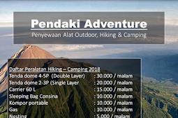 Rental Alat Pendakian Unnes