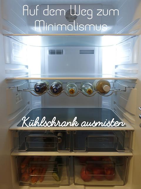 Minimalismus - Kühlschrank ausmisten | judetta.de