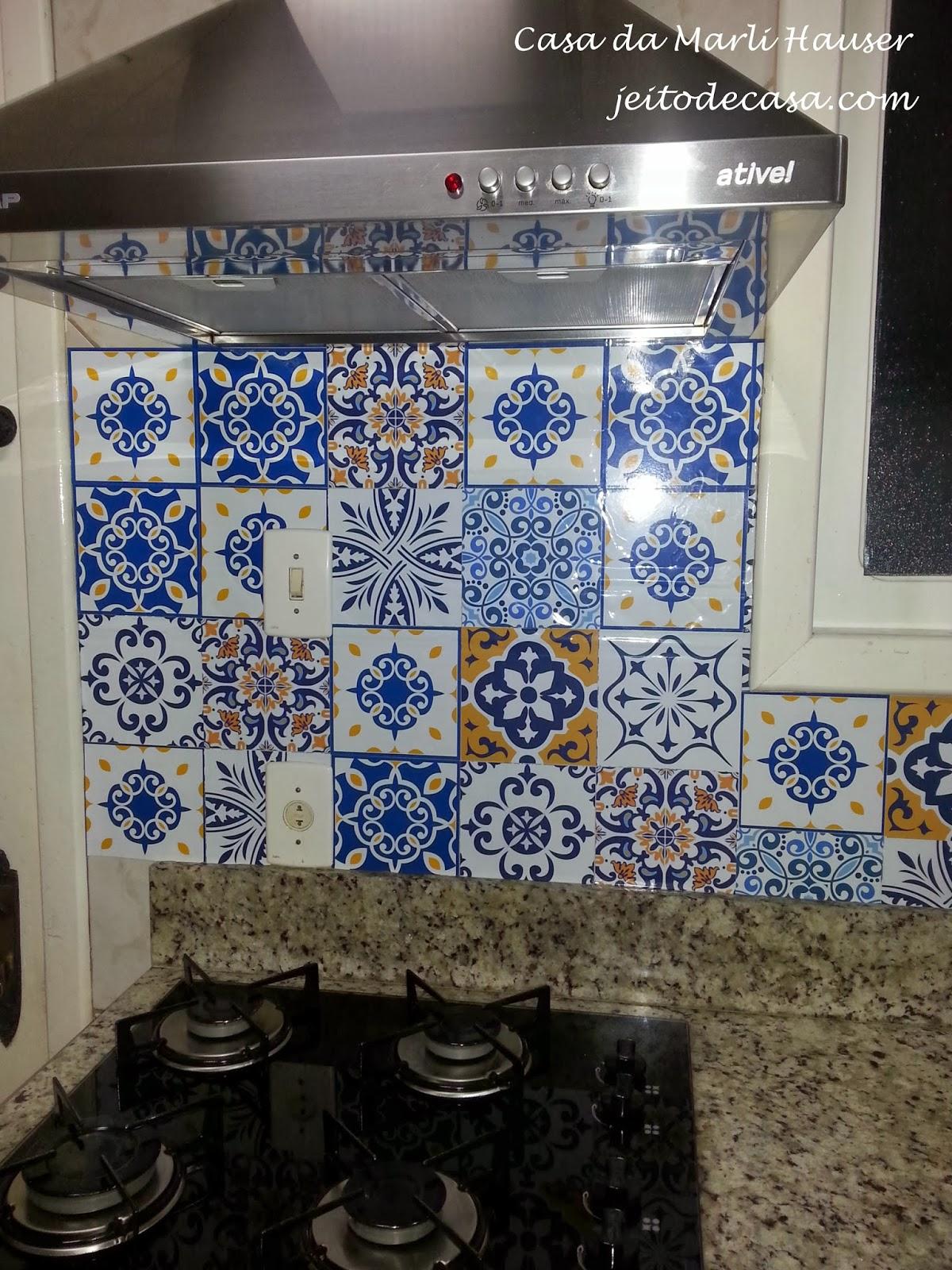 estampa de ladrilhos hidraulicos na cozinha