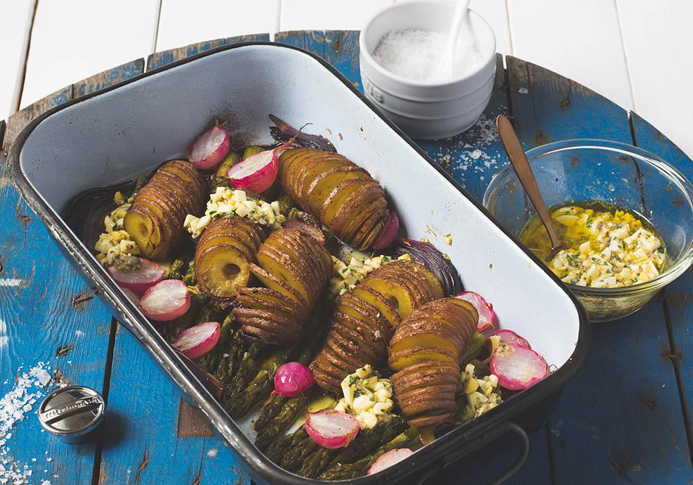 Hasselback Kartoffeln und große Spiralschneider-Liebe