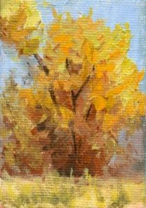 art painting landscape autumn tree fall foliage miniature
