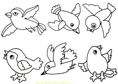 Gambar Mewarnai Burung - 13