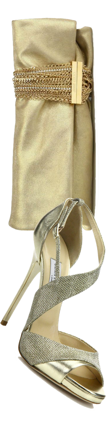 Jimmy Choo Tyne Asymmetrical Leather & Lurex Sandals Gold