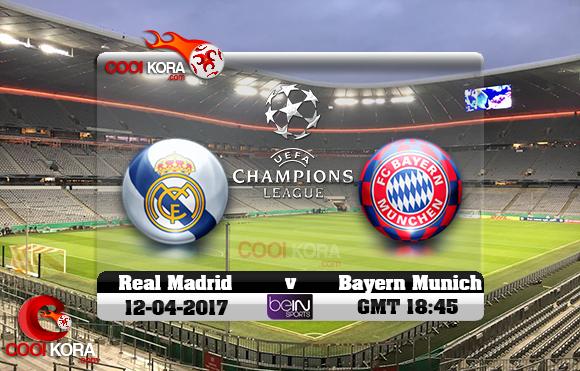 مشاهدة مباراة بايرن ميونخ وريال مدريد اليوم 12-4-2017 في دوري أبطال أوروبا