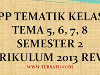 RPP Kelas 1 Tema 5, 6, 7, 8 Semester 2 Th. 2019