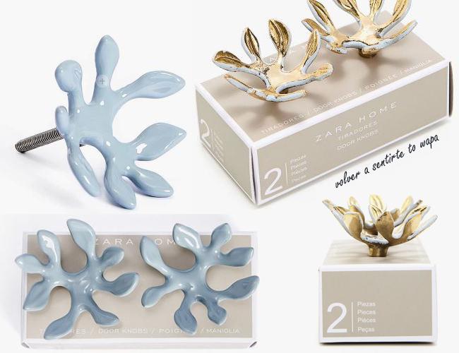 Pomos - Tiradores de hojas y flores de Zara Home