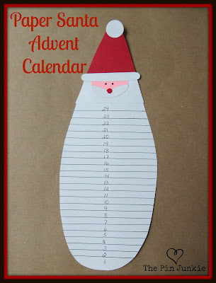 Paper Santa Christmas Advent Calendar