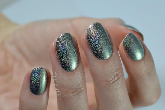 a england katyusha swatch metallic gold olive holographic